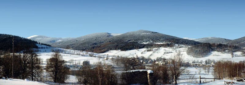 Enjoy winter in the Czech Republic with overviews like the Sudeten Mountains