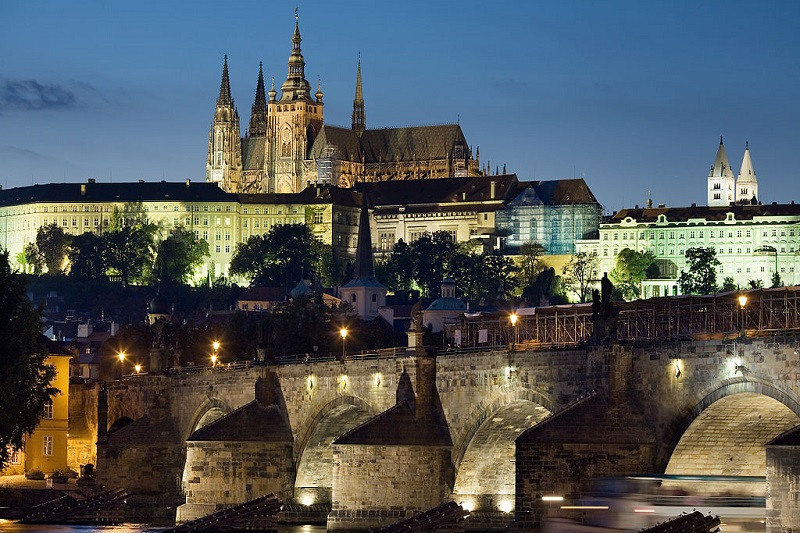 There are a lot of romantic spots in Prague like Charles Bridge or Prague Castle