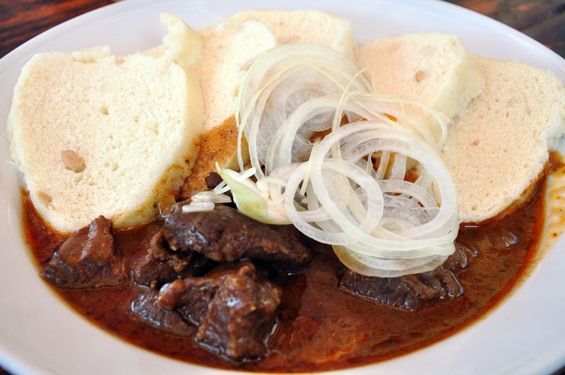 Goulash is one of the most famous dishes to eat in Prague